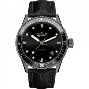 Blancpain [NEW] Fifty Fathoms Bathyscaphe Ceramic and Liquid Metal 5000-0130-B52A (Retail:HK$103,000)