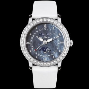 Blancpain [NEW] Ladies Moonphase & Complete Calendar 35mm 3663-4654L-52B (Retail:CHF 17,500)