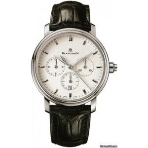 Blancpain [NEW] Villeret Chronograph Monopulsante Steel 6185-1127-55A (Retail:HK$121,000)