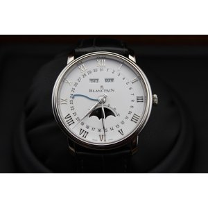 Blancpain [NEW] Villeret Moonphase White Dial Stainless Steel 6654-1127-55B (Retail:HK$120,000)