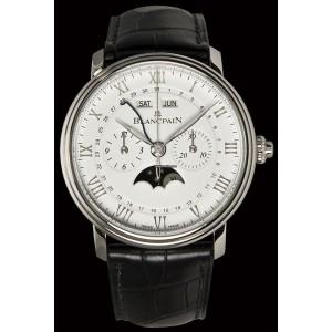 BLANCPAIN [NEW] Villeret Silver Dial Chronograph 6685-1127-55B(Retail:HK$170,500)