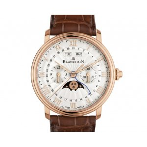 Blancpain [NEW] Villeret Single Pusher Chronograph Complete Calendar 6685-3642-55B