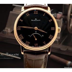Blancpain [NEW] Villeret Ultra Slim 30 Seconds Retrograde Mens 6653-3630-55B (Retail:HK$175,500)