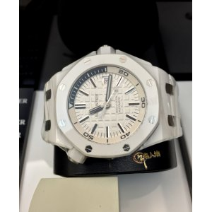 Brand New Audemars Piguet 行貨 Royal Oak Offshore Ceramic Diver White 15707CB (List Price: HK$187,000) - SOLD!!