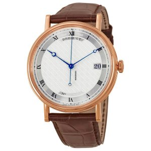 BREGUET [NEW] Classique Silver Dial 18kt Rose Gold Brown Leather 5177BR/12/9V6