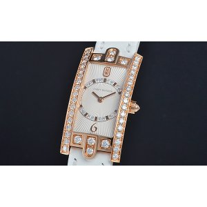 Harry Winston [NEW] Avenue C Art Deco quartz 18K rose gold timepiece white light partially AVCQHM19RR030