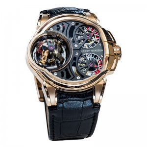 Harry Winston [NEW] Histoire de Tourbillon 5 limited edition manual 18K rose gold timepiece HCOMTT47RR001