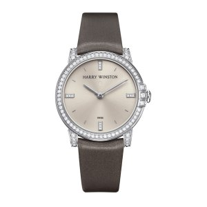 Harry Winston [NEW] Midnight 32mm quartz 18K white gold timepiece white light indexes set dial MIDQHM32WW002