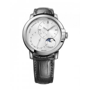 Harry Winston [NEW] Midnight Date Moon Phase 42mm automatic 18K white gold timepiece white light set with one diamond dial MIDAMP42WW003