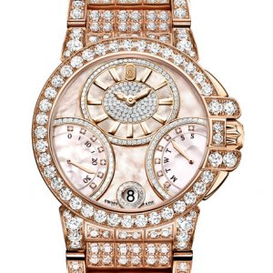 Harry Winston [NEW] Ocean Biretrograde 36mm automatic 18K rose gold timepiece white light mother of pearl partially set dial OCEABI36RR032