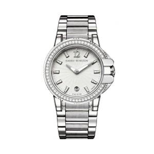 Harry Winston [NEW] Ocean Sport™ Ladies quartz zalium timepiece on zalium bracelet white light indexes OCSQHD36ZZ010