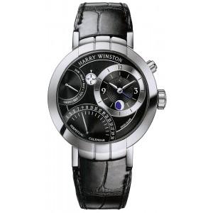 Harry Winston [NEW] Premier Perpetual Calendar limited edition automatic 18K white gold timepiece PRNAPC41WW001