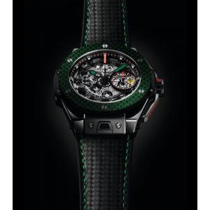 Hublot [NEW][LIMITED 50] 401.CQ.0123.VR.FMX15 Big Bang Ferrari Mexico Black Ceramic Watch