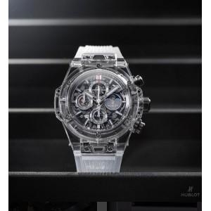 Hublot [NEW][LIMITED 50] Big Bang Unico Perpetual Calendar Sapphire 406.JX.0120.RT (Retail:US$110,000)