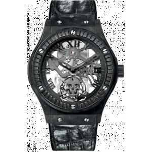 Hublot [NEW][LTD 50] Classic Fusion Skeleton Tourbillon Black Skull Carat 505.UC.0140.LR.1900.SKULL (Retail:CHF 130,000)