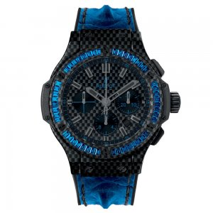 Hublot [全新] 301.QX.1790.HR.1901 Big Bang Carbon Bezel Baguette Blue Sapphires  (Retail:CHF 69,900)