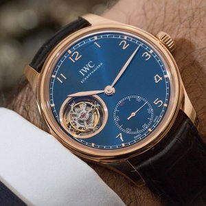IWC [NEW][LIMITED 100] IW546305 Portugieser Tourbillion Blue Dial Mens Watch (Retail:US$57,000)