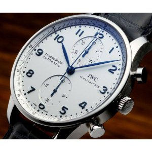 IWC [NEW] Portuguese Chronograph Automatic Mens Watch IW371446 (List Price: HK $60,600)