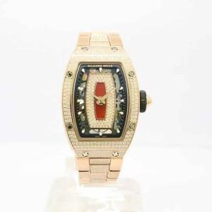 Richard Mille [NEW] RM 07-01 Rose Gold Full Set Pave Diamonds Closed Bracelet