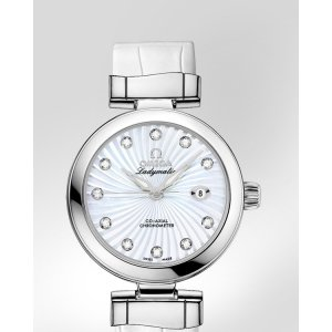 Omega [NEW] DeVille Ladymatic White MOP Diamonds Automatic Watch 425.33.34.20.55.001 (Retail: HK$63,600)