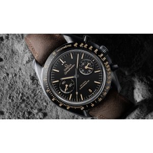 OMEGA [NEW] Speedmaster Moonwatch Co-Axial Black Dial Chronograph Automatic Men's Watch (Retail:HK$101,100)