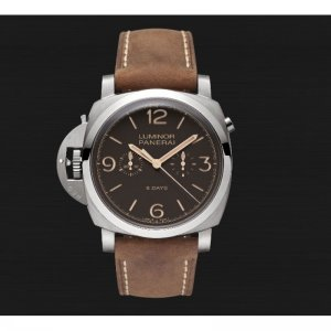 Panerai [NEW] ^ [PAM 579], Luminor 1950 chrono monopulsante left-handed 8 days titanio - 47 mm, Limited edition to 300 Pieces (List Price: HK$138,000.)
