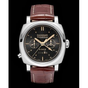 Panerai [NEW] Radiomir 1940 Chrono Monopulsante 8 Days GMT Oro Bianco PAM 503 Limited to 150 PCs (Retail:HK$340,000) - SOLD!!