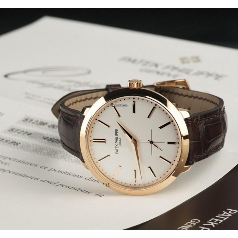Patek Philippe (百达翡丽) [NEW] Calavatra Mens Rose Gold 5123R-001 (Retail:HK$186,700)