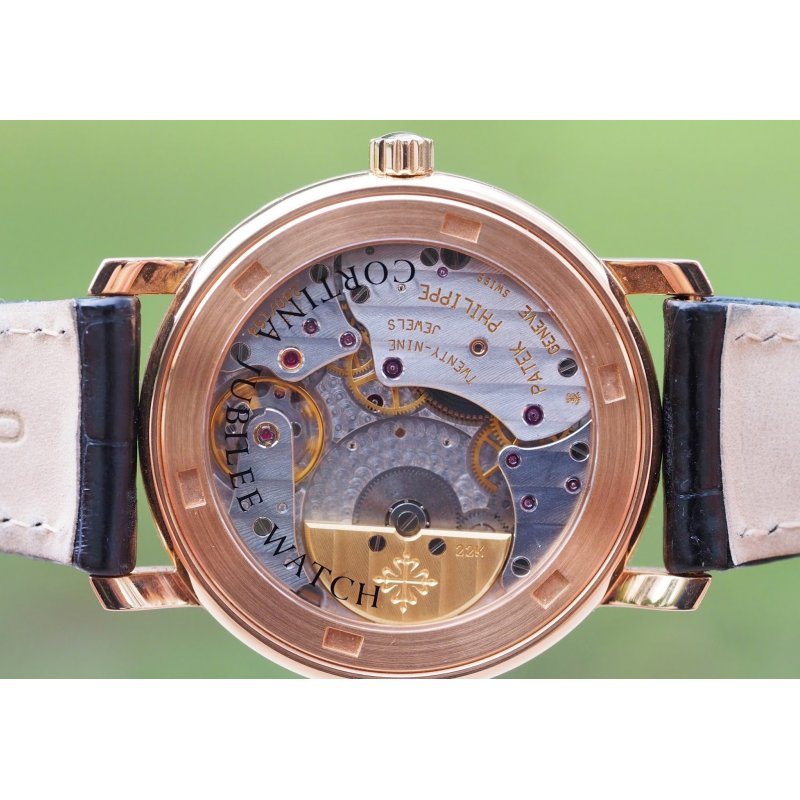 Patek Philippe [MINT][LIMITED 100][限量100支] Cortina Jubilee 5057R Rose Gold Mens Watch