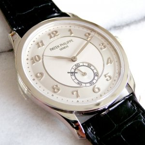 Patek Philippe [NEW] 37mm Calatrava Auto Platinum 5196P-001 (Retail:HK$276,700)