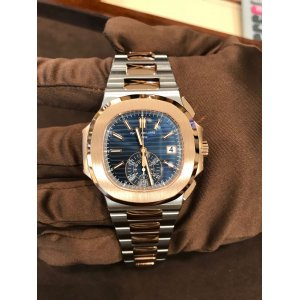 Patek Philippe [NEW] 5980/1AR Nautilus Chronograph Steel/Rose Gold Blue Dial (Retail:HK$434,000)