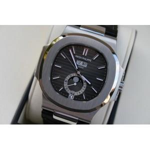 Patek Philippe [NEW & RARE & SPECIAL DEAL] Nautilus 5726A-001 Annual Calendar Moon Phase Black Dial (List Price: HK$295,400)