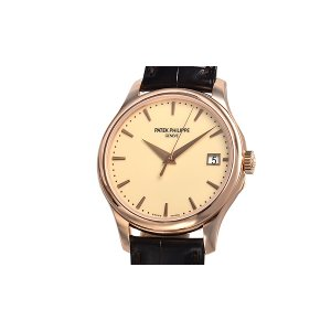 Patek Philippe [NEW] Calatrava Mechanical Ivory Dial Leather Men's Watch 5227R-001 (List Price: HK$259,700)