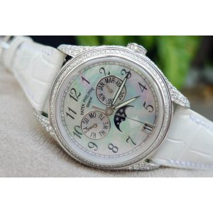 Patek Philippe [NEW] Complicated White Gold Moon Phase Diamond Ladies 4937G (Retail:HK$511,800)- SOLD!!