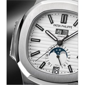 Patek Philippe [NEW] Nautilus Annual Calendar Moonphase White 5726/1A-010 (Retail:HK$331,000)
