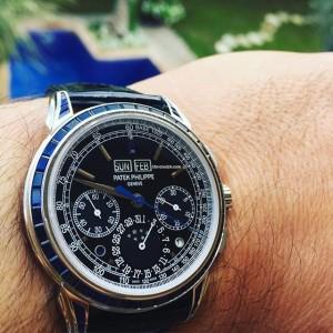 Patek Philippe [NEW][RARE] 5271/11P Baguette Sapphire Perpetual Calendar Chronograph