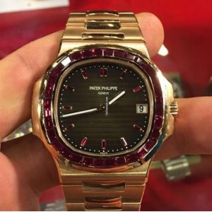 Patek Philippe [NEW][RARE] 5723/1R Baguette Ruby Diamonds Watch