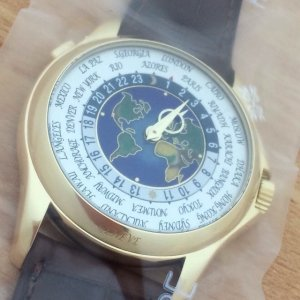 Patek Philippe [NEW][RARE] Complications World Time Yellow Gold 5131J-001