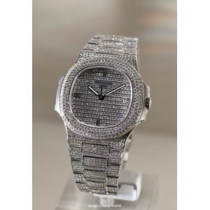 Patek Philippe [NEW] Nautilus Men's White Gold Diamond 5719/1G (Retail:HK$1,990,400)