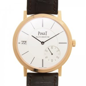 Piaget [NEW] Altiplano AutomaticSilver Dial Brown Leather Men's Watch G0A38131 (Retail:US$23,800)