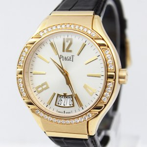 PIAGET [NEW] Polo Silvered Dial 18K Rose Gold Diamond Automatic Men's Watch G0A38159