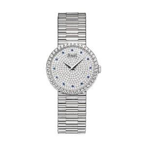 PIAGET [全新] GOA37043 Traditional Diamond Pave Sapphire Dial 18K White Gold (Retail US$59,000)