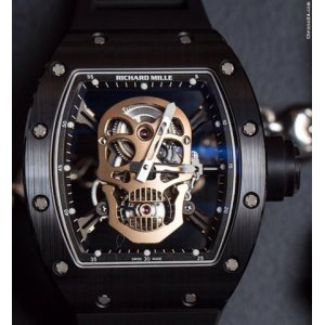 Richard Mille [LNIB] RM 052 Blk Ceramic & Red Gold Skull Tourbillon RM 52 - SOLD!!
