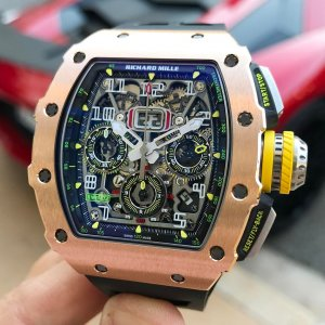 Richard Mille [NEW][RARE] RM 11-03 Rose Gold & Titanium Automatic Flyback Chronograph (Retail:US$130,500)