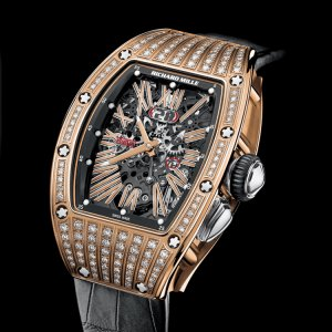 Richard Mille [NEW] RM 037 Rose Gold Ladies Automatic MDDS Diamond Roman Dial (Retail: USD$135,000) - SOLD!!