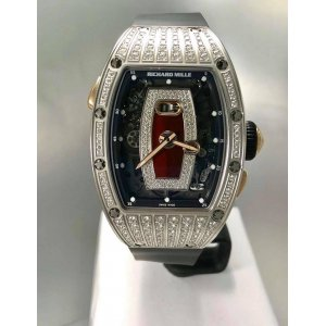 Richard Mille [NEW] RM 037 WG Jasper Medium Set Diamonds