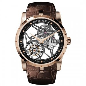 Roger Dubuis [NEW] Excalibur 42 Flying Rose Gold Tourbillon RDDBEX0392 (Retail:US$159,500)