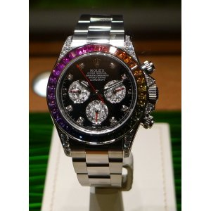 Rolex (勞力士) [NEW+RARE] Rainbow Daytona 116599RBOW White Gold Diamond - SOLD!!