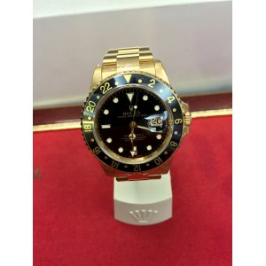 Rolex [MINT] GMT Master II Black Dial 16718 Yellow Gold Y-Series - SOLD!!