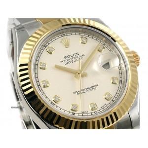 Rolex [NEW] 116333G Datejust II Ivory Diamond Watch (Retail:HK$98,000)